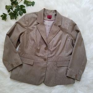 212 Collection Women's Tan Two Button Blazer sz18